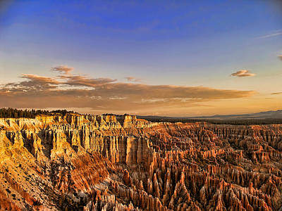 Sunrise Over The Hoodoos Art Print by Anne Rodkin