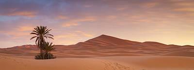 Sunrise Over The Majestic Erg Chebbi Desert Art Print