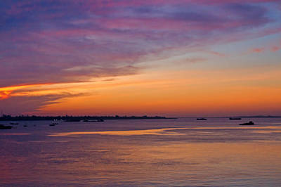 Photograph - Sunrise Over The Mekong. by David Freuthal
