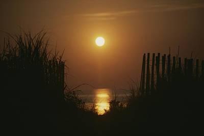Bethany Beach Wall Art - Photograph - Sunrise Over The Ocean by Stephen St. John