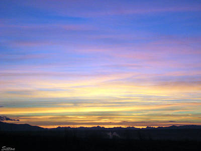 Photograph - Sunrise Over Three Forks Mt by C Sitton