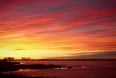 Striking Photograph - Sunrise Over Union Reservoir In Longmont Colorado Boulder County by James BO  Insogna
