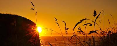 Behind The Rocks Photograph - Sunrise Pano by Svetlana Sewell
