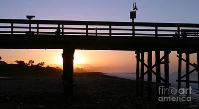 Sunrise Pier Ventura Art Print