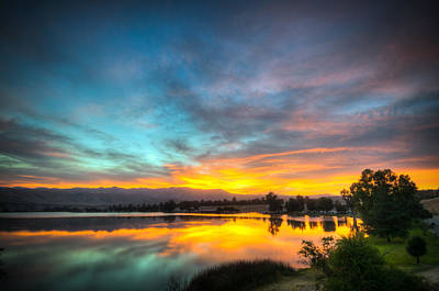Photograph - Sunrise Reflection On Lake Ming by Connie Cooper-Edwards