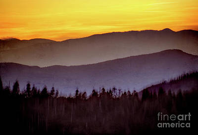 Sunrise Ridges Art Print by Arne Hansen