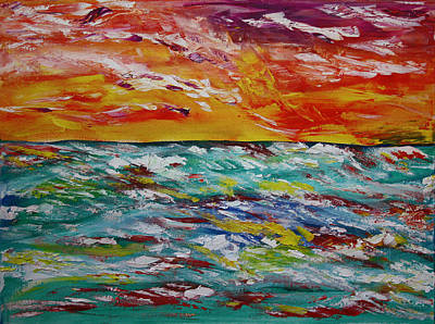 Painting - Sunrise Seas by James Bryron Love