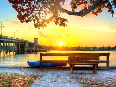 Sunrise Seista Drive Horizontal Art Print by Jenny Ellen Photography