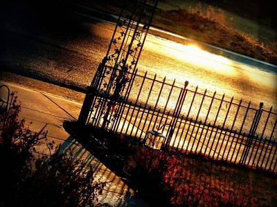 Sunrise Street Reflections Art Print by Cindy Wright