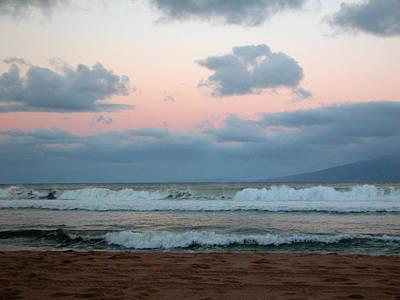 Photograph - Sunrise Surf In Maui by Lynn Bauer