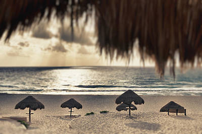 Sunrise Viewed From The Beach Art Print by Bryan Mullennix