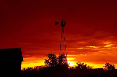 Soap Suds - Sunrise Windmill 1 C by John Brueske