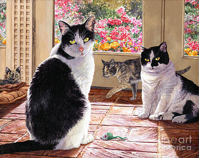 Painting - Sunroom Rendezvous by Lynette Cook