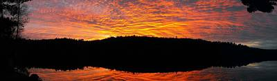 Photograph - Sunscape A Colourful Panorama At My Doorstep by William OBrien