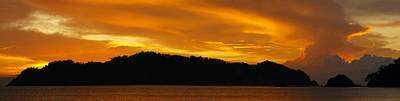 Photograph - Sunscape Panorama  Curu National Wildlife Park Costa Rica Panorama by William OBrien