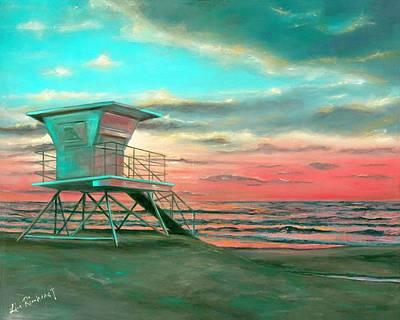 Sunset 1 Art Print by Lisa Reinhardt