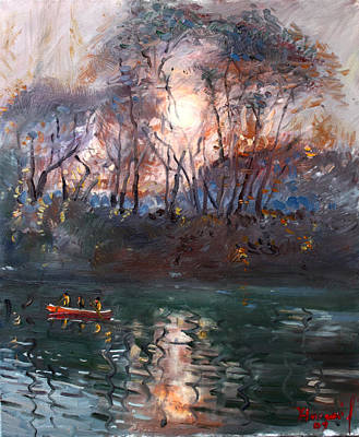 Reflection Painting - Sunset 2011 by Ylli Haruni