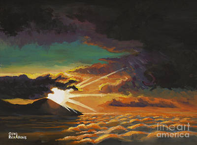 Painting - Sunset Above The Clouds by Rich Arons