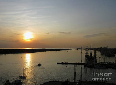 Photograph - Sunset Above The Sea Port. Klaipeda. Lithuania. by Ausra Huntington nee Paulauskaite