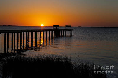 Photograph - Sunset Across Currituck Sound by Ronald Lutz