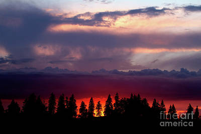 Print featuring the photograph Sunset After Storm by Charles Lupica