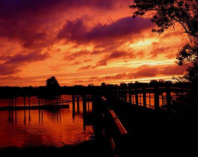 Photograph - Sunset Ala Hurricane Isaac by Judy Wanamaker