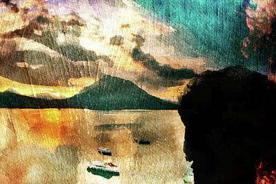 Art Print featuring the digital art Sunset And Fear by Andrea Barbieri