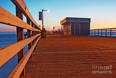 Photograph - Sunset And Pier At Pismo Beach by Paul Topp