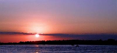Fort Pierce Inlet Digital Art - Sunset Art by Grace Dillon