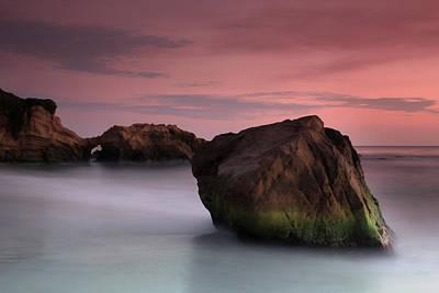 Sunset At Arch Rock Art Print by Dave Sribnik