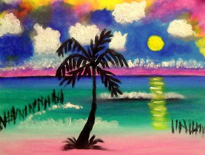 Painting - Sunset At Buho's Isla by Ted Hebbler