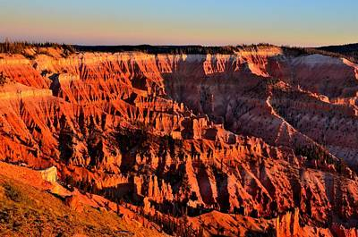 Photograph - Sunset At Cedar Breaks by Mark Bowmer