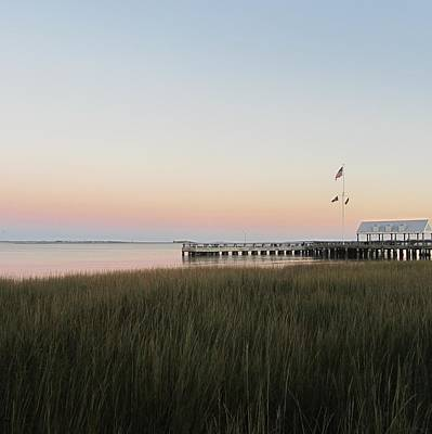 Sunset At Charleston Bay 2 Art Print