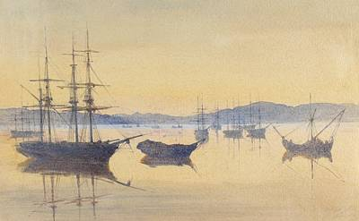Istanbul Painting - Sunset At Constantinople by M Baillie Hamilton