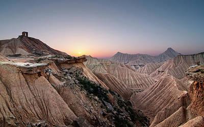 Sunset At Desert Art Print by Inigo Cia