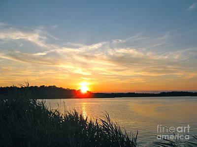 Photograph - Sunset At Dividing Creek  by Nancy Patterson