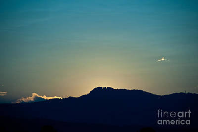 Sunset At Horsetooth Rock Art Print
