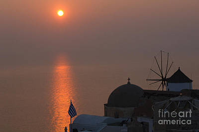 Photograph - Sunset At Iao Greece by Bob Christopher