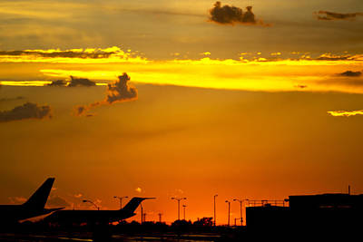 Sunset At Kci Art Print by Lisa Plymell