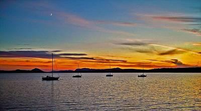 Sunset At Lake Memphremagog - Qc Art Print