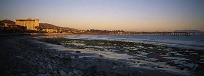 Sunset At Low Tide On Ventura Beach Art Print by Rich Reid