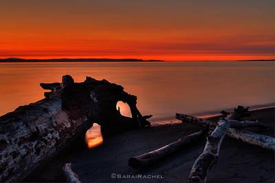 Sunset At Marina Beach Park In Edmonds Washington Art Print by Sarai Rachel