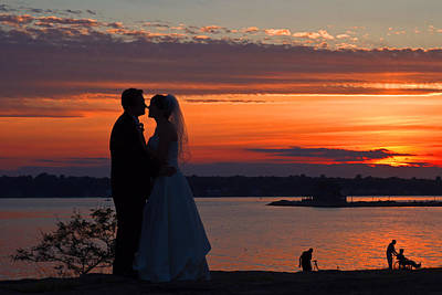 Photograph - Sunset At Night A Wedding Delight by David Freuthal