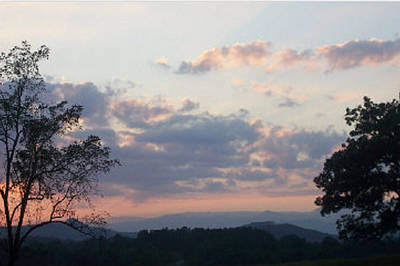 Sunset At Oak Hill Farm Art Print by Elizabeth Coats