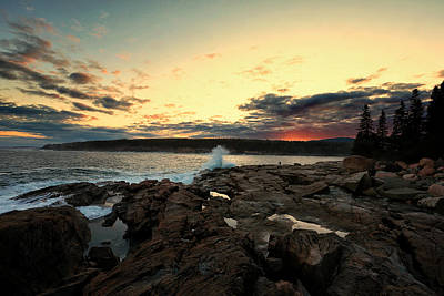 Photograph - Sunset At Otter Point by Sara Hudock