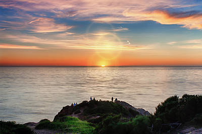 Point Dume Wall Art - Photograph - Sunset At Point Dume by Ken Wolter