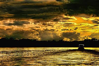 Sunset At Ri Negro Art Print