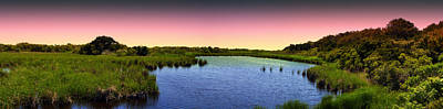 Photograph - Sunset At Sandpiper Pond by Bill Barber