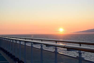 Sunset At Sea 2 Art Print