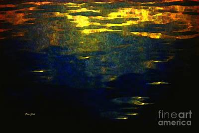 Digital Art - Sunset At Sea by Dale   Ford